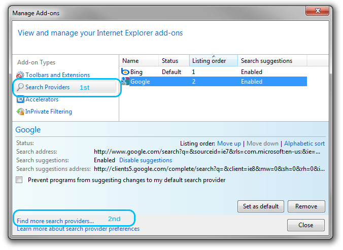 Photo of How to change, add & remove search box providers on Internet Explorer 8