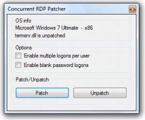 Windows 7 Concurrent RDP Patcher