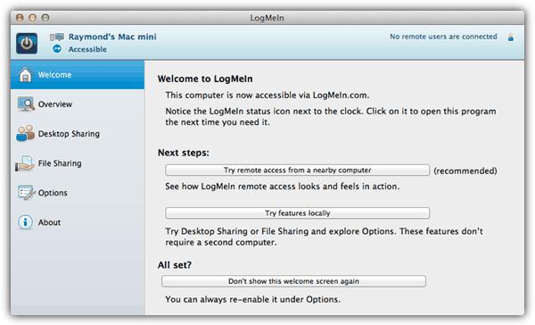 LogMeIn Free Mac