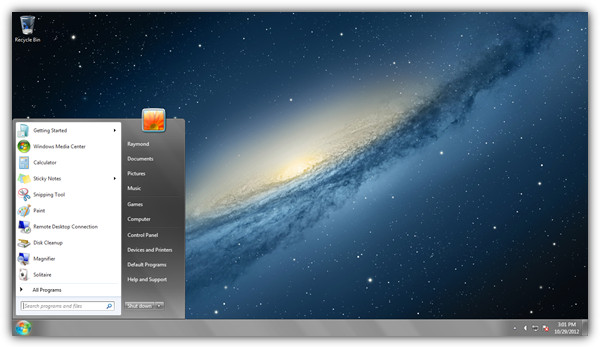 Photo of Mac OS X Mountain Lion Theme On Windows