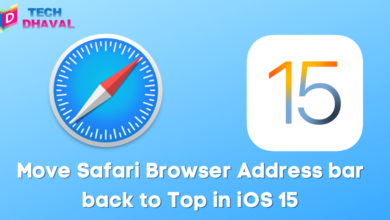 Move safari browser